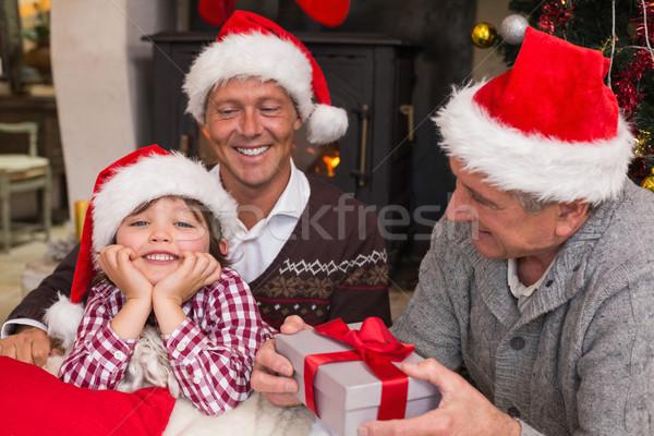 Drei Generation Familie Weihnachten home Stock foto © wavebreak_media