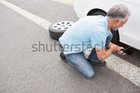Sad man waiting for assistance after breaking down Stock photo © wavebreak_media