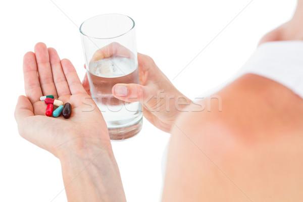 女性 バッチ 錠剤 ガラス 水 ストックフォト © wavebreak_media