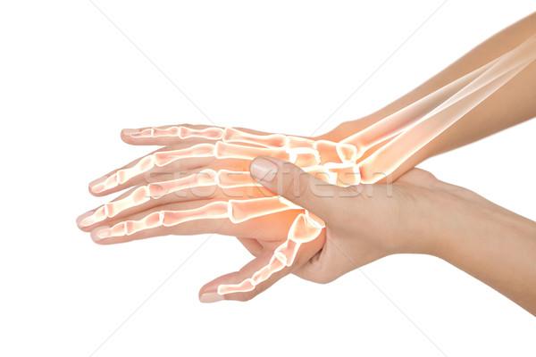 Csontok nő kéz fájdalom digitális kompozit egészség Stock fotó © wavebreak_media