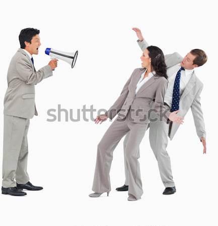 üzletemberek néz egyéb fehér nő férfi Stock fotó © wavebreak_media