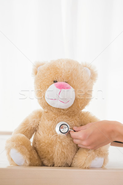 мишка врач стетоскоп медицинской служба женщину Сток-фото © wavebreak_media