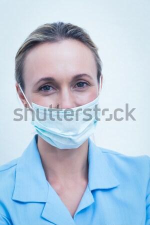 Médico máscara cirúrgica escritório mulher médico Foto stock © wavebreak_media