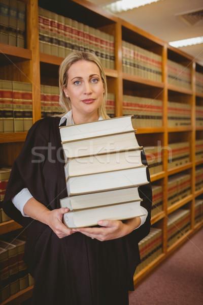Advocaat zwaar boeken permanente Stockfoto © wavebreak_media