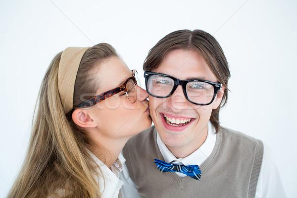 Całując chłopak biały człowiek szczęśliwy Zdjęcia stock © wavebreak_media