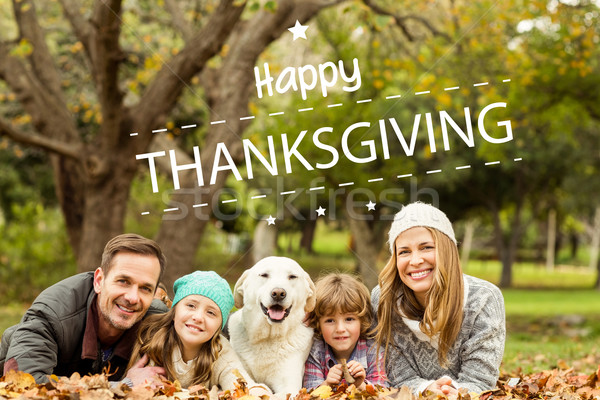 Composite image of happy thanksgiving Stock photo © wavebreak_media