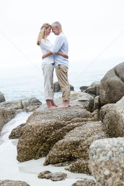 Boldog pár áll kő néz egyéb Stock fotó © wavebreak_media
