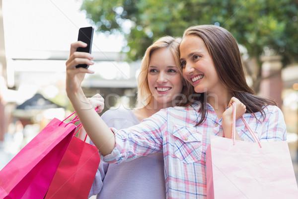 幸せ 女性 友達 ショッピングバッグ ストックフォト © wavebreak_media