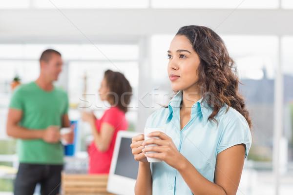 Kávészünet fiatal designer kolléga üzlet férfi Stock fotó © wavebreak_media