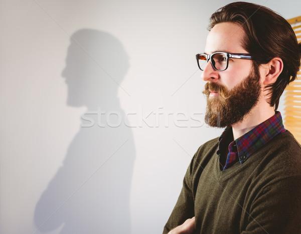 Empresario lado perfil oficina feliz Foto stock © wavebreak_media
