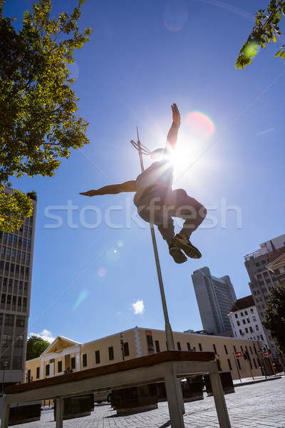 Man doing parkour in the city Stock photo © wavebreak_media