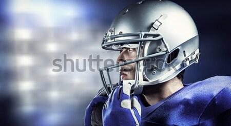 összetett kép sportoló visel sisak másfelé néz Stock fotó © wavebreak_media