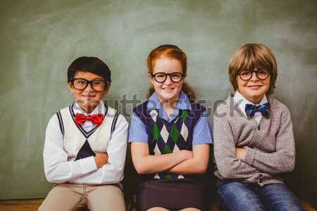 Children with glasses and school education graphic drawings Stock photo © wavebreak_media