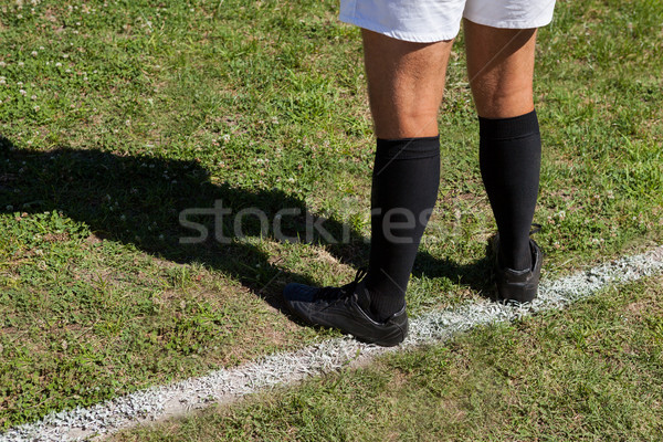 Low section of rugby player standing on field Stock photo © wavebreak_media