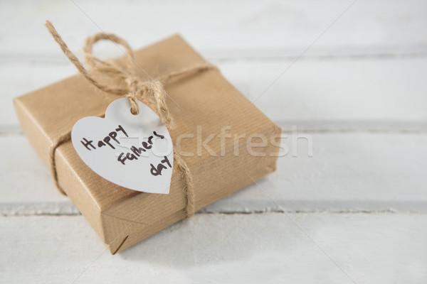 Día regalo mesa de madera madera cuadro Foto stock © wavebreak_media