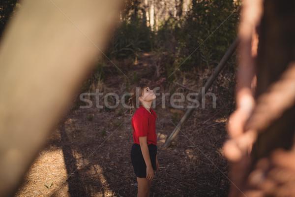 Determinado menina olhando ao ar livre equipamento Foto stock © wavebreak_media