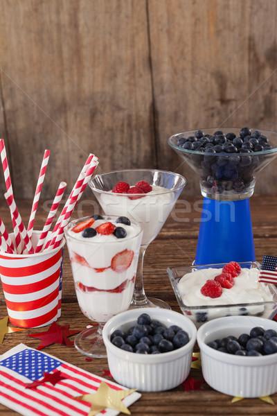 果物 アイスクリーム フルーツ ガラス 表 ストックフォト © wavebreak_media