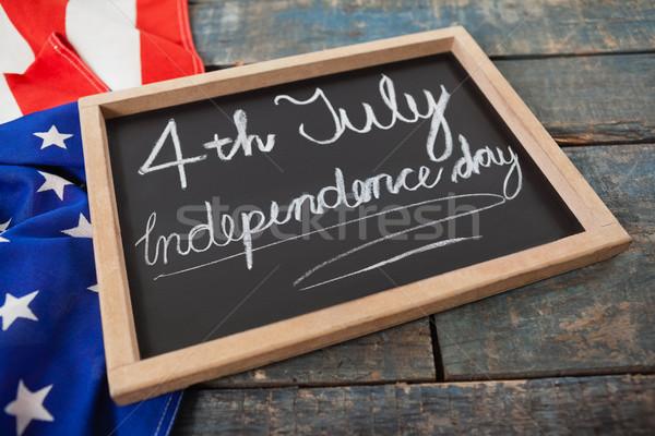 американский флаг текста день синий Сток-фото © wavebreak_media