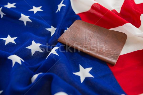 Visum Amerikaanse vlag veiligheid Blauw reizen Stockfoto © wavebreak_media