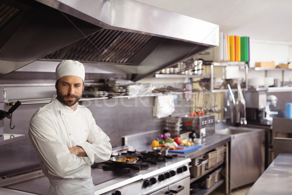 şef ayakta ticari mutfak restoran Stok fotoğraf © wavebreak_media