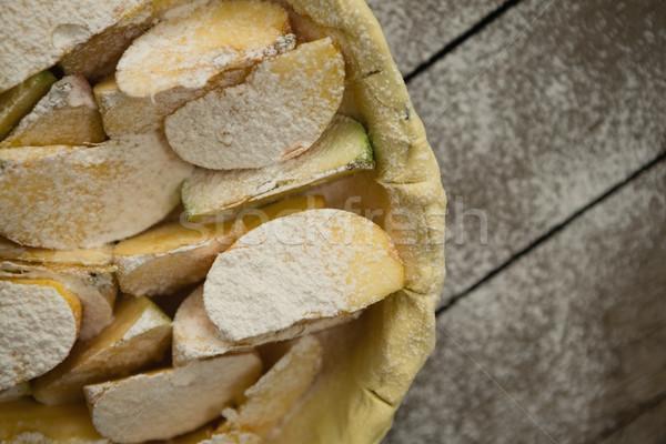 Kilátás alma szeletek sütemény sütés serpenyő Stock fotó © wavebreak_media