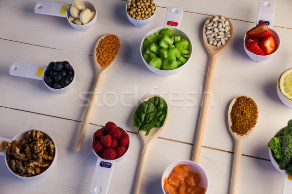 Zdrowych składniki drewniany stół Zdjęcia stock © wavebreak_media