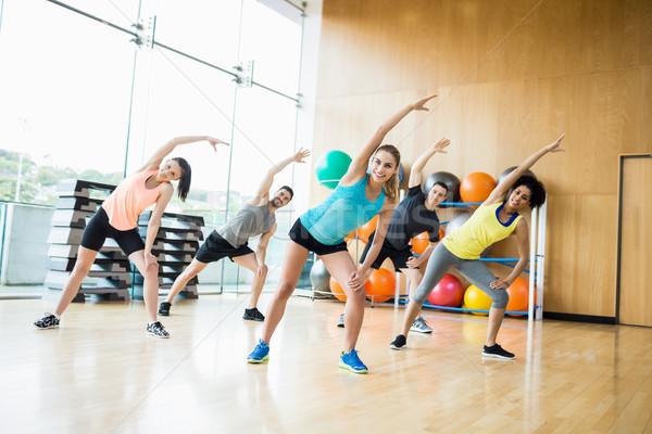 Fitness klasse studio gymnasium gelukkig Stockfoto © wavebreak_media
