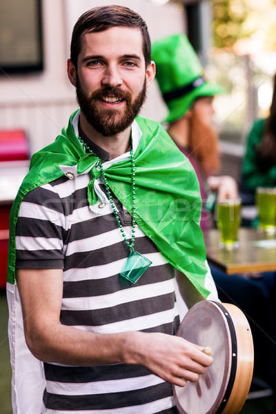 Portrait of man celebrating St Patricks day Stock photo © wavebreak_media