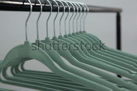 Kleurrijk rij doek rack schone Stockfoto © wavebreak_media