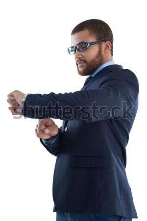 Biznesmen czasu oglądać biały działalności pracy Zdjęcia stock © wavebreak_media