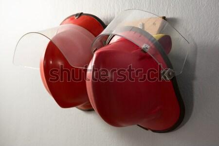 Sapkák akasztás kampó közelkép profi támogatás Stock fotó © wavebreak_media