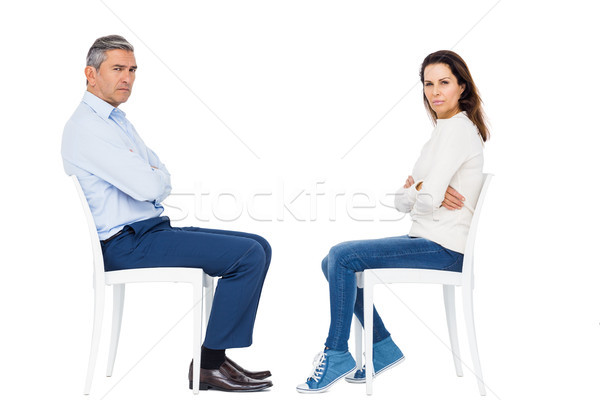 Pár veszekedik ül fehér nő női Stock fotó © wavebreak_media