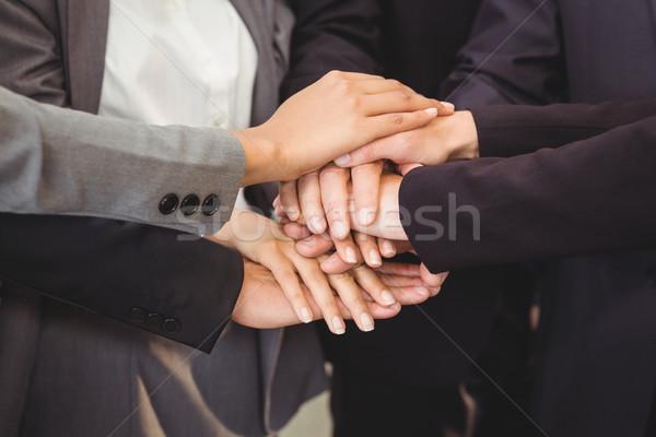 Eller toplantı ofis iş Stok fotoğraf © wavebreak_media