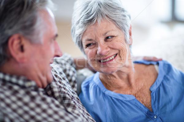 счастливым глядя другой улыбаясь домой Сток-фото © wavebreak_media