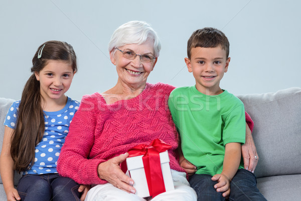 Grandmother and her grandchildren Stock photo © wavebreak_media