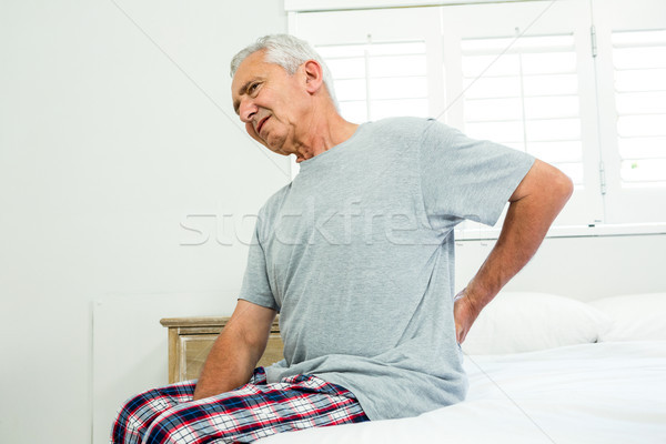 старший человека страдание боль в спине окна кровать Сток-фото © wavebreak_media