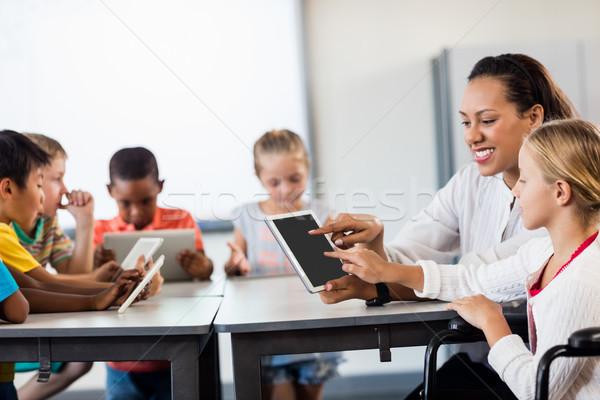 Stockfoto: Leerlingen · klasse · jongen · klas · zwarte
