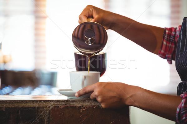 Camarera café Servicio mujer de trabajo servicio Foto stock © wavebreak_media