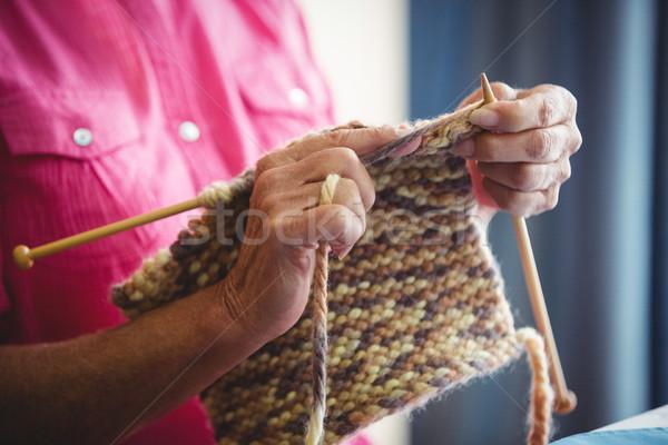 Close-up of someone doing knitting Stock photo © wavebreak_media