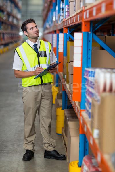 Munkás üzlet férfi dolgozik csapat raktár Stock fotó © wavebreak_media