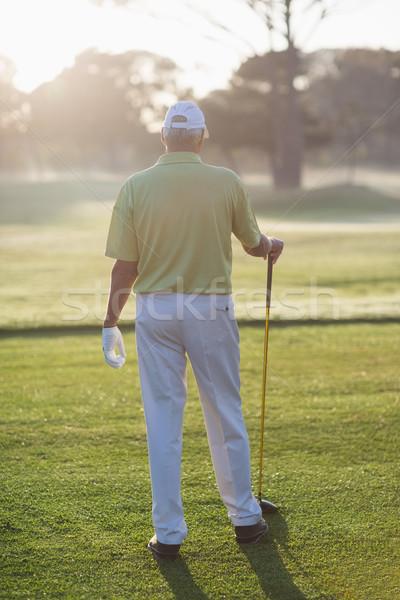 Сток-фото: вид · сзади · человека · гольф · клуба · Постоянный