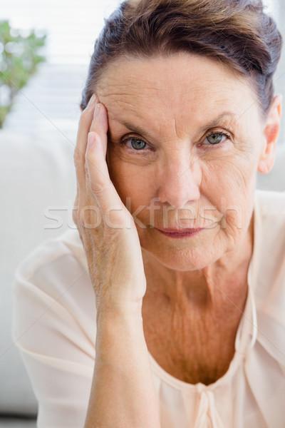Portrait of woman having headache Stock photo © wavebreak_media