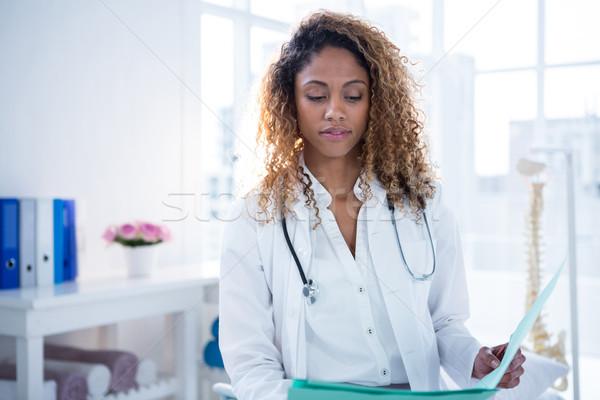 Tart vágólap klinika baba toll női Stock fotó © wavebreak_media