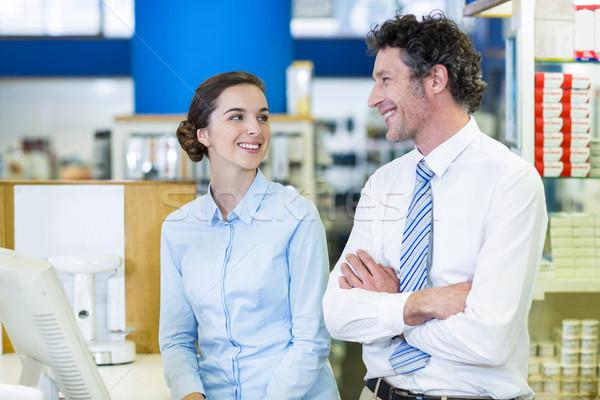 Otro farmacia sonriendo nina médico feliz Foto stock © wavebreak_media
