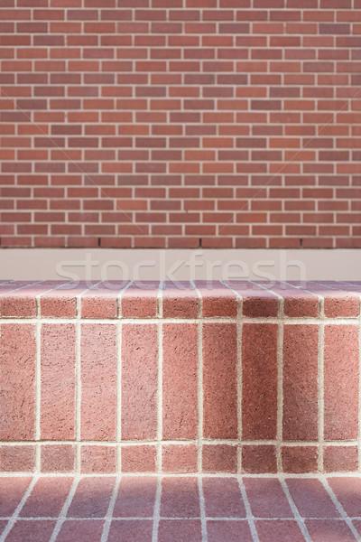 Moderna pared de ladrillo fotograma completo naturaleza casa arte Foto stock © wavebreak_media