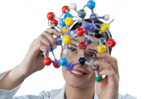 Femenino científico molecular modelo blanco Foto stock © wavebreak_media