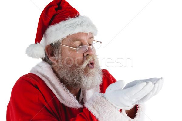 サンタクロース 眼鏡 目に見えない 雪 白 ストックフォト © wavebreak_media