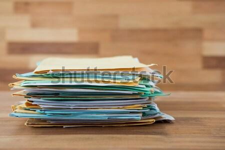 Photo stock: Fichiers · bois · bureau · affaires · bois