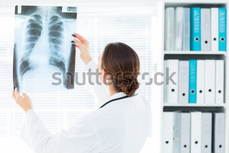 Femminile medico febbre digitale termometro ospedale Foto d'archivio © wavebreak_media