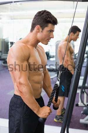 Boxer kickboxing fitness studio ragazzo Foto d'archivio © wavebreak_media